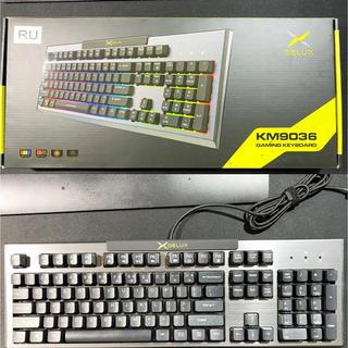 デラックス(DELUXE)の【新品・激安】DELUX ゲーミングキーボード KM9036(英字配列)(PC周辺機器)
