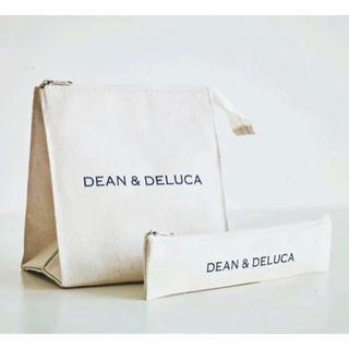 ディーンアンドデルーカ(DEAN & DELUCA)のDEAN&DELUCA ランチバッグ カトラリーポーチ 2個セット 付録 白(ポーチ)