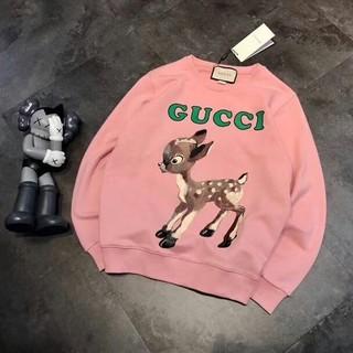 グッチ(Gucci)のピンクフォーンバンビスウェットシャツ(シャツ/ブラウス(長袖/七分))