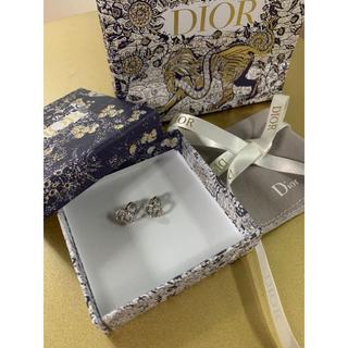 ディオール(Dior)の【DIOR】CLAIR D LUNE イヤリング CDロゴ ホワイトクリスタル(イヤリング)