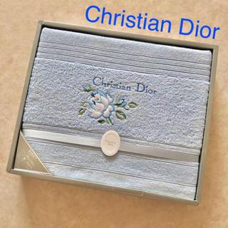 クリスチャンディオール(Christian Dior)のChristian Dior タオルシーツ【ブルー】(シーツ/カバー)