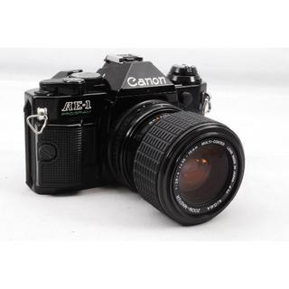 キヤノン(Canon)の完動品 Canon AE-1 PROGRAM Black #666 + Lens(フィルムカメラ)