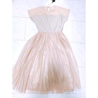 メルロー(merlot)の【新品タグ付】ロングスカートドレス*メルロー プラス(ロングドレス)