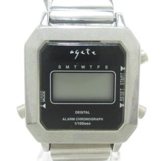 アガット(agete)のアガット 腕時計美品  1007 レディース 黒(腕時計)