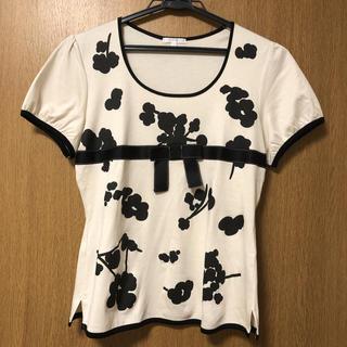 トゥービーシック(TO BE CHIC)のトゥービーシック カットソー Tシャツ リボン(カットソー(半袖/袖なし))