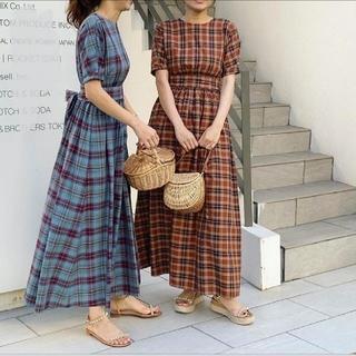 ツルバイマリコオイカワ(TSURU by Mariko Oikawa)の新品タグ付き。Gillian ワンピース(ロングワンピース/マキシワンピース)