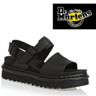 Dr.Martens - Dr.Martens☆Voss ブラックハイドロレザーサンダル☆UK7