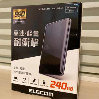 エレコム(ELECOM)のELECOM SSD外付けポータブル 240GB(PCパーツ)