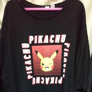 エイチアンドエム(H&M)のピカチューのTシャツワンピース(Tシャツ(半袖/袖なし))