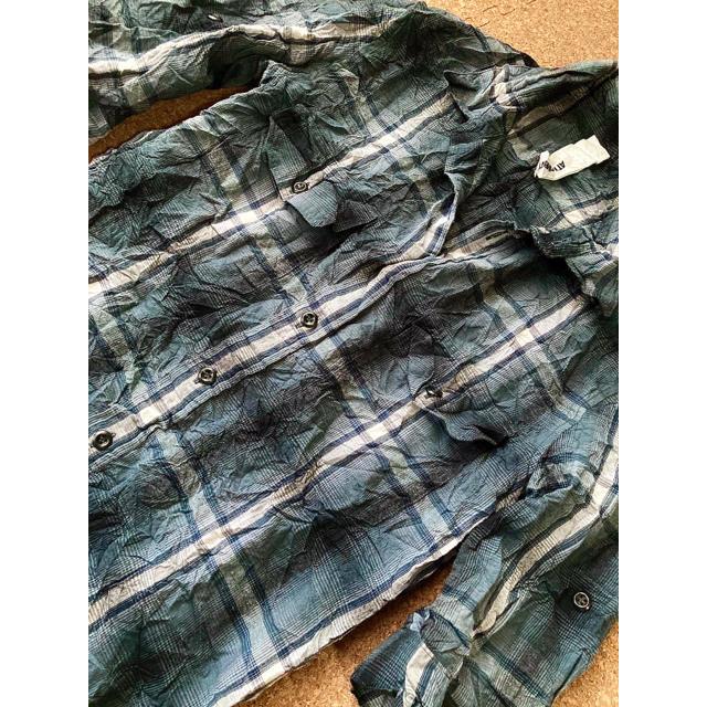 ATTACHIMENT(アタッチメント)のアタッチメント ATTACHMENT シワ加工チェックシャツ 桜井着 メンズのトップス(シャツ)の商品写真