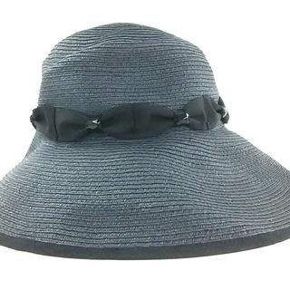 トッカ(TOCCA)のトッカ 帽子 ダークグレー×黒 ビジュー(その他)