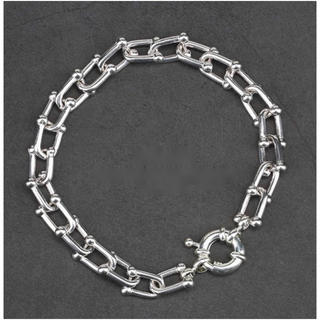 Tiffany & Co. - Uチェーンブレスレット シルバー 銀色 メンズ ブレスレット uチェーン リンク