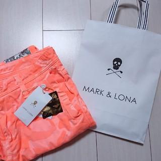 マークアンドロナ(MARK&LONA)のマークアンドロナ ゴルフ ウェア パンツ オレンジ 46(ウエア)
