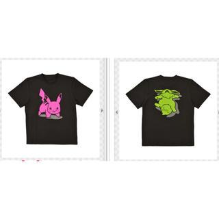 ニンテンドウ(任天堂)のポケモン Tシャツ ピカチュウ イーブイ(Tシャツ/カットソー(半袖/袖なし))