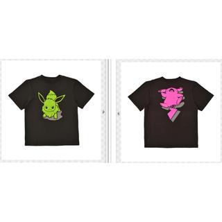 ニンテンドウ(任天堂)のポケモン Tシャツ イーブイ ピカチュウ(Tシャツ/カットソー(半袖/袖なし))