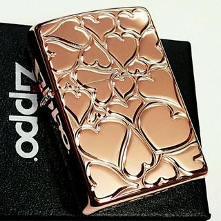 ジッポー(ZIPPO)のzippo♥ラブリーハート♥ローズピンク(タバコグッズ)