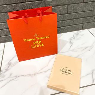 ヴィヴィアンウエストウッド(Vivienne Westwood)のヴィヴィアンウエストウッド 紙袋 レッド ショップ袋 空き箱 ラッピング(ショップ袋)