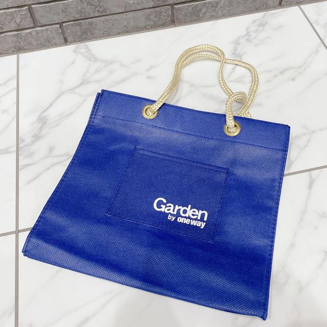 one*way(ワンウェイ)のお値下げ♡ 美品 ワンウェイ 布袋 不織布 ショップ袋 ブルー ロゴ レディースのバッグ(ショップ袋)の商品写真