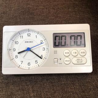 セイコー(SEIKO)のSEIKO★スタディタイム★ストップウォッチ付時計(置時計)