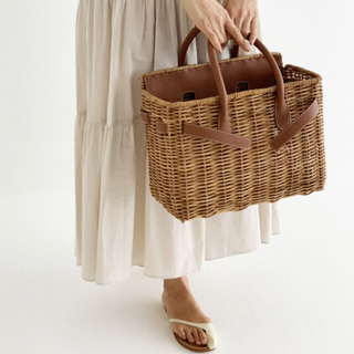 シー(SEA)の4連休限定セール!完売品!SEA JAPANラタンバスケットバッグ Mサイズ(かごバッグ/ストローバッグ)