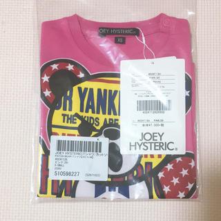 ジョーイヒステリック(JOEY HYSTERIC)の新品 joey histeric PATCH BEAR Tシャツ XS ピンク(その他)