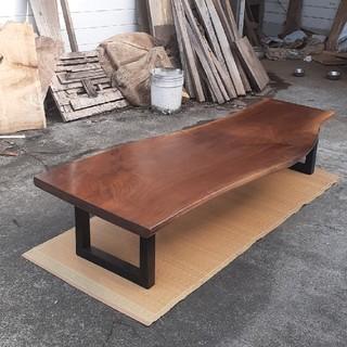 ウォールナット 一枚板 特大 ダイニングテーブル センターテーブル 最高級(ローテーブル)
