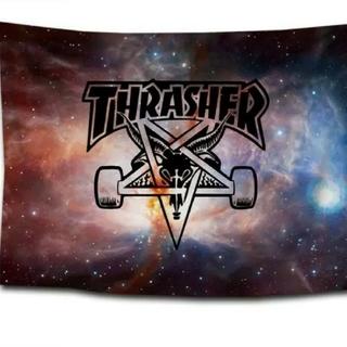 スラッシャー(THRASHER)の新品、未使用 スラッシャー THRASHER タペストリー フラッグ 3(スケートボード)
