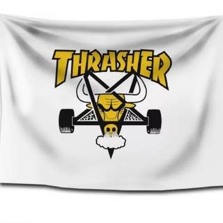 スラッシャー(THRASHER)の新品、未使用 スラッシャー THRASHER タペストリー フラッグ 4(スケートボード)