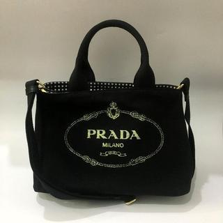 プラダ(PRADA)の送料込 2WAYバッグ ギンガムネロブラックPRADA(ショルダーバッグ)