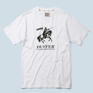 ザダファーオブセントジョージ(The DUFFER of ST.GEORGE)のダファー ブランド パロディTシャツ  Sサイズ(Tシャツ/カットソー(半袖/袖なし))