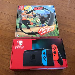ニンテンドースイッチ(Nintendo Switch)の新品未使用 任天堂スイッチ リングフィットアドベンチャー(家庭用ゲーム機本体)