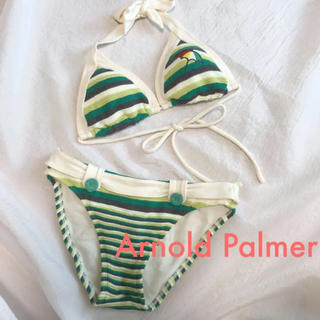 アーノルドパーマー(Arnold Palmer)の美品 Arnold Palmer  ボーダー ビキニ (水着)
