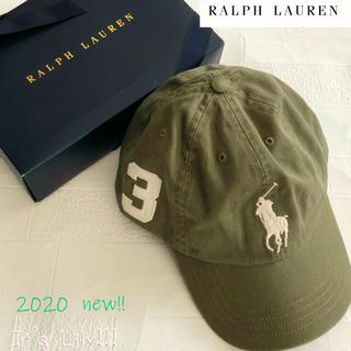 ラルフローレン(Ralph Lauren)の8-20t ラルフローレン 人気のオリーブ ビックポニーキャップ(キャップ)