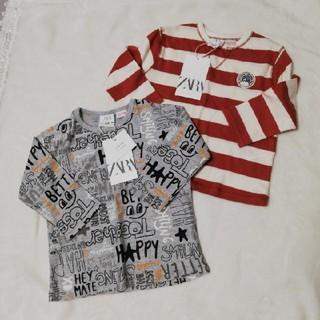 ザラキッズ(ZARA KIDS)の最終値下げ 新品未使用 ZARA kids トップス2枚set(Tシャツ)