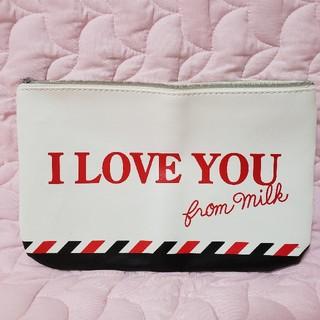 ミルク(MILK)のMILK ZIPPER×MILK ラブレターポーチ(ポーチ)