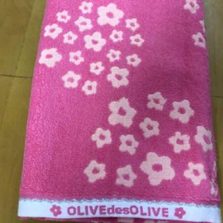 オリーブデオリーブ(OLIVEdesOLIVE)のオリーブデオリーブ バスタオルpお花(タオル/バス用品)
