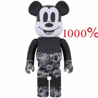 メディコムトイ(MEDICOM TOY)のBE@RBRICK bape Mickey ベイプ ミッキーマウス 1000%(キャラクターグッズ)