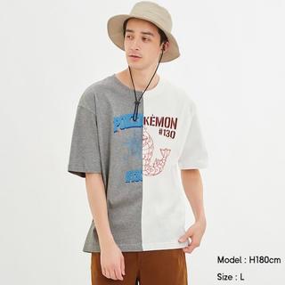 ポケモン(ポケモン)のGU/ジーユー メンズ コットンビッグT ポケモン ポケットモンスター XL(Tシャツ/カットソー(半袖/袖なし))