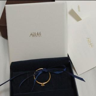 アーカー(AHKAH)のAHKAH13号イエローゴールドリング(リング(指輪))