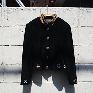 アメリヴィンテージ(Ameri VINTAGE)のVintage Embroidered suède jacket(レザージャケット)