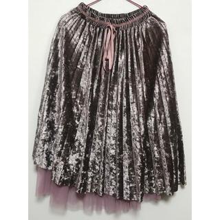 カワイイ(cawaii)のピンクのレイヤードスカート(ひざ丈スカート)