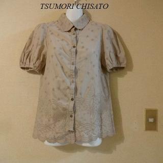ツモリチサト(TSUMORI CHISATO)のTSUMORI CHISATOツモリチサト♡デザインお洒落刺繍シャツ(シャツ/ブラウス(半袖/袖なし))