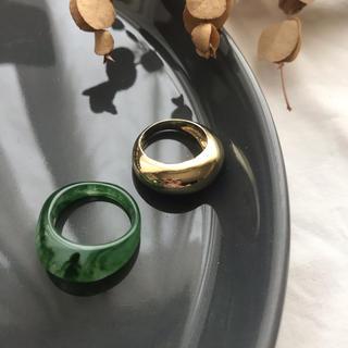アダムエロぺ(Adam et Rope')の【CRG-7B】bipartite ring-green-(リング(指輪))