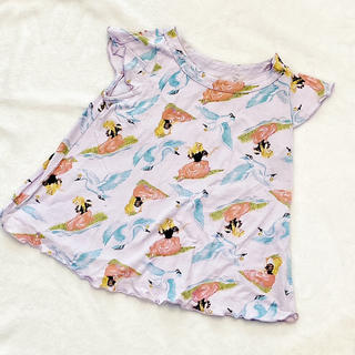 フェフェ(fafa)の美品 fafa ラベンダープリンセス 半袖チュニック 100cm(Tシャツ/カットソー)
