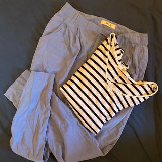 マウジー(moussy)のマウジー ボーダーTシャツ ミーア パンツ 2点セット コーデ(セット/コーデ)