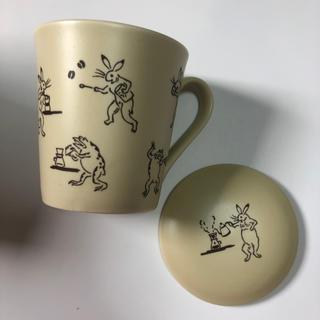 タリーズコーヒー(TULLY'S COFFEE)のtullys へのぬ マグカップ 鳥獣戯画(グラス/カップ)