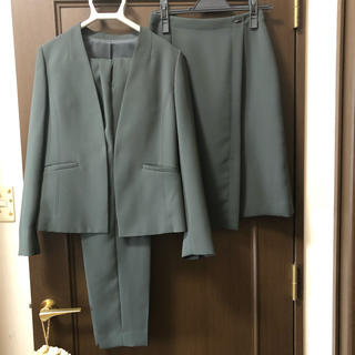 グリーンレーベルリラクシング(green label relaxing)のプリュックス スーツ3点セット サイズ36(スーツ)