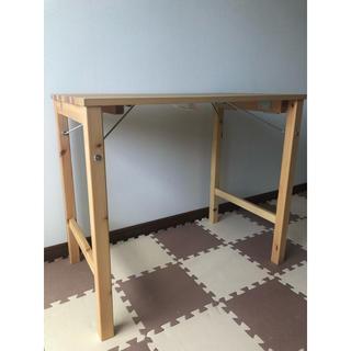 ムジルシリョウヒン(MUJI (無印良品))の【美品】無印 折りたたみ パイン材 テーブル(折たたみテーブル)