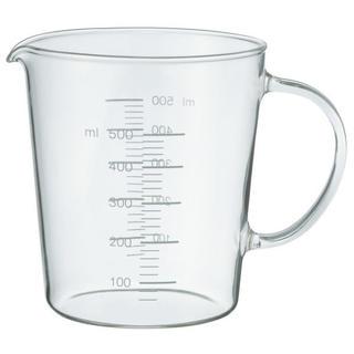 ムジルシリョウヒン(MUJI (無印良品))の無印良品 耐熱ガラスメジャーカップ 500ml/約直径10.5×高さ12cm(食器)