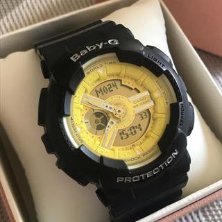 ベビージー(Baby-G)のBaby-g レディース ユニセックス ブラック イエロー カスタム 難あり(腕時計)